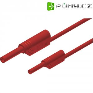 Měřicí kabel banánek 4 mm ⇔ banánek 2 mm SKS Hirschmann MAL S WS 2-4 100/1, 1 m, červená