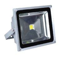 Solight LED venkovní reflektor, 50W, 4000lm, AC 230V, šedá