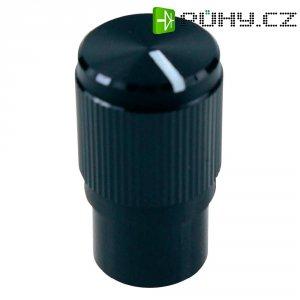 Otočný knoflík Cliff FC7257, pro sérii KMK10E, 6 mm, s drážkováním, černá