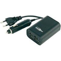 USB nabíječka Ansmann Quattro,4x USB, do autozásuvky/230V