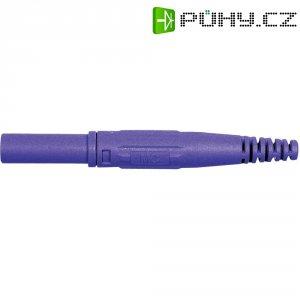 Laboratorní konektor Ø 4 mm MultiContact 66.9196-26, zástrčka rovná, fialová