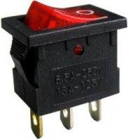 Vypínač kolébkový OFF-ON 1pól.250V/3A,červený