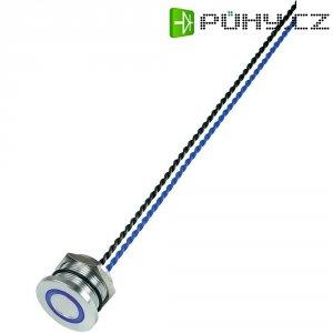 Piezo tlačítko, 24 V DC/AC, 0,2 A, IP 68, PS223P10Y01B24T, modrá LED, ploché