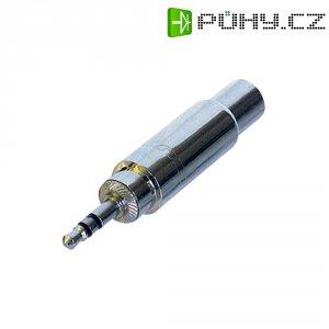 Audio adaptér jack [1x jack zástrčka 3,5 mm - 1x jack zásuvka 6,3 mm] stříbrná