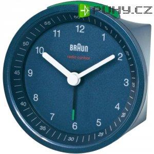 Analogový DCF budík Braun 66011, 80 x 57 mm, modrá