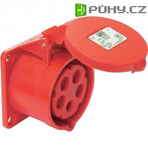 CEE zásuvka 315-6 PCE, rovná, 16 A, IP44, červená