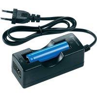 Nabíječka pro Li-Ion akumulátor pro svítilny Walther + 1x CR123, 2200 mAh