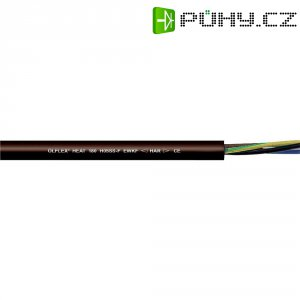 Silikonový kabel LappKabel Ölflex HEAT H05SS-F, 2 x 1 mm², černá, 1 m