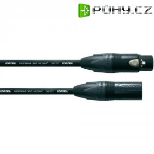 Kabel Cordial® CMK 222, XLR(F)/XLR(M), 1 m, černá