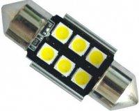 Žárovka LED SV8,5-8 sufit, 12-24V, 6xLED3030, bílá, CANBUS, délka 36mm