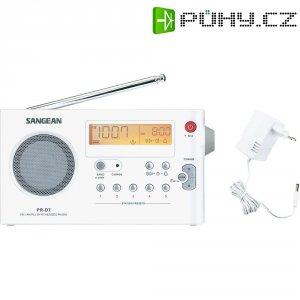 FM přenosné rádio Sangean PR-D7, SV, FM, bílá