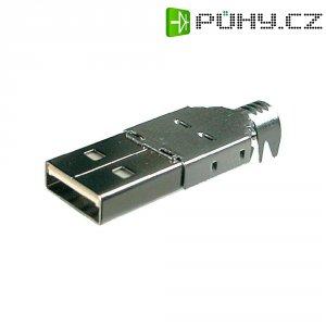 Konektor USB typ A BKL Electronic 10120098, zástrčka rovná, pájený