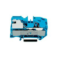 Oddělovací svorka Wago 2016-7114, pružinová, 12 mm, modrá