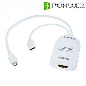 MHL (Mobile High Definiton Link) adaptér micro USB ⇒ HDMI, Inakustik