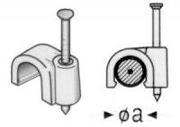 Příchytka kabelová KO10 10mm bílá