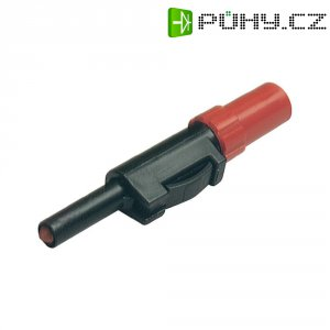Laboratorní konektor Ø 4 mm SKS Hirschmann SLS 10 B (931824101), zástrčka rovná, červená
