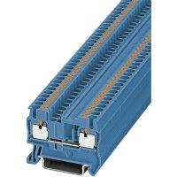 Svorka Push-in průchodová Phoenix Contact PIT 2,5 BU (3209523), modrá