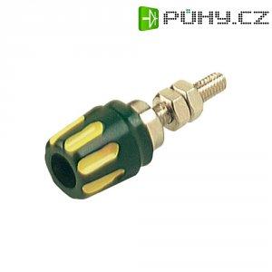 Pólová svorka SKS Hirschmann PK 10 A (930099188), (Ø x d) 14 x 42 mm, žlutozlená