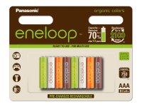Baterie AAA (R03) nabíjecí Eneloop PANASONIC 1.2V /750mAh Organic 8ks