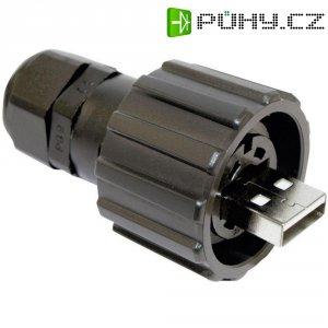Sada USB 2.0 Conec 17-200151, IP67, zástrčka rovná