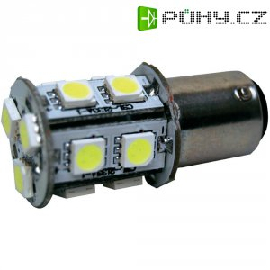 SMD LED žárovka Eufab, 13531, 3 W, BA15d, bílá