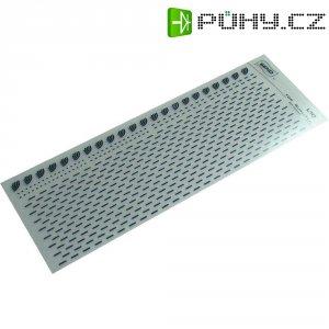Značky pro plošné spoje SENO, oblouky a krátké čáry, tloušťka 1,5 mm, černá