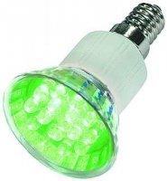 ž Žárovka LED E14/230V (15x) - zelená