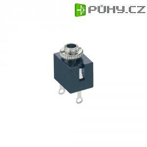 Jack konektor 2,5 mm mono Lumberg KLB, rozpínač, zásuvka vestavná vertikální, 2pól, černá