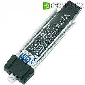 Akupack Li-Pol (modelářství) Conrad energy, 3.7 V, 80 mAh, 20 C, minium