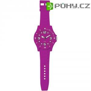 Analogové nástěnné hodiny v provedení hodinek, 2227K-EPR, Ø 30 x 100 cm, fialová