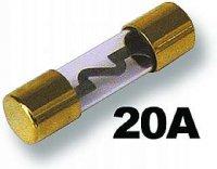 Pojistka auto Glass 20A pozlacená
