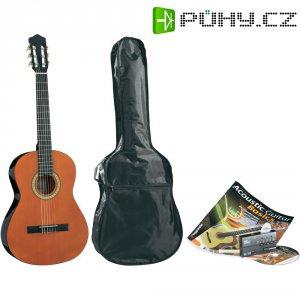 Sada koncertní kytary, velikost kytary 4/4, přírodní