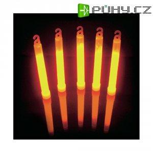 Neonová světelná tyčinka, 15 cm, oranžová