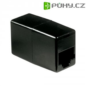 ISDN adaptér RJ45 zásvuka 8p4c ⇔RJ45 zásvuka 8p4c Wentronic, černá