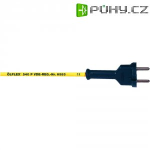 Síťový kabel LappKabel, zástrčka/otevřený konec, 300/500 V, 2 m, žlutá, 73220842
