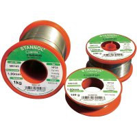 Cínová pájka Stannol HF 34, Sn60Pb40, Ø 1 mm, 1000 g