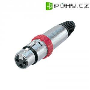 XLR kabelová zásuvka Neutrik NC3FXS, rovná, 3pól., 3,5 - 8 mm, stříbrná