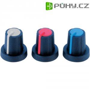 Otočný knoflík (Ø 16 mm) Soft-Touch PB Fastener 3030420, 6 mm, černá/modrá