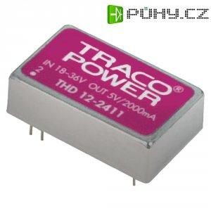 DC/DC měnič TracoPower THD 12-4822, vstup 36 - 75 V/DC, výstup ±12 V/DC, ±500 mA, 12 W
