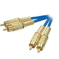 Spojovací kabel Speaka pozlacený 2x cinch 0,5 m