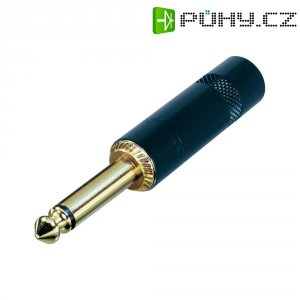 Jack konektor 6,35 mm mono Rean AV NYS224BG, zástrčka rovná, ≤ 6 mm, 2pól., černá/zlatá
