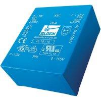 Plochý transformátor do DPS Block FL 14/6, UI 39/10,2, 2x 115 V, 2x 6 V, 2x 1,16 A