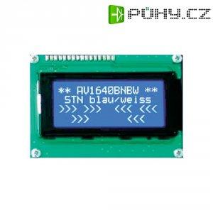 LCD displej Anag Vision, AV2040BNBW-WJ, 13,6 mm, Anag V, bílá/modrá