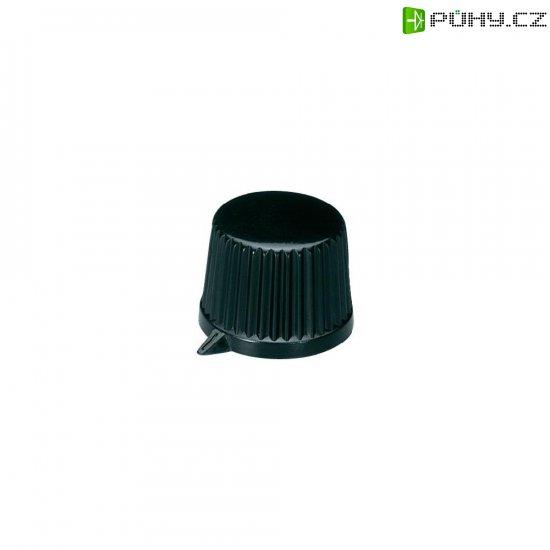 Otočný knoflík s ukazatelem OKW, 6 mm, černá - Kliknutím na obrázek zavřete