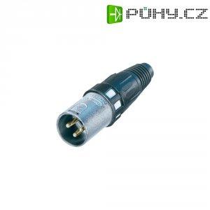XLR kabelová zástrčka Neutrik NC 3 MXCC, rovná, 3pól., 5.4 - 6.2 mm, stříbrná