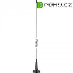 CB anténa s magnetickým podstavcem Ministar 27, typ 1/4, výška: 31 cm, 25 W SSB, 10 W FM, 27 MHz