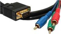 Kabel VGA 15p-3xCINCH kabel 7,5mm/3m