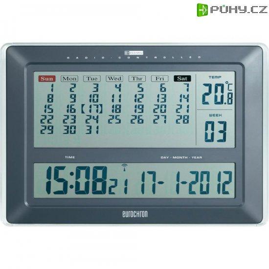 eurochron jumbo  Digitální nástěnné DCF hodiny s kalendářem Eurochron Jumbo EFWU 222 ...