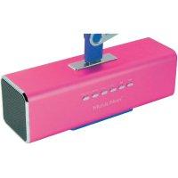 Mobilní sound stanice s displejem Technaxx MusicMan ® MA, růžová