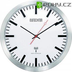 Nádražní DCF hodiny Eurochron EFW 3602, Ø 30 x 4,9 cm, hliník